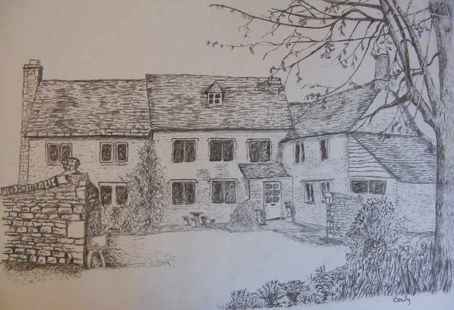 Old Village House Drawing They All Come From my Art