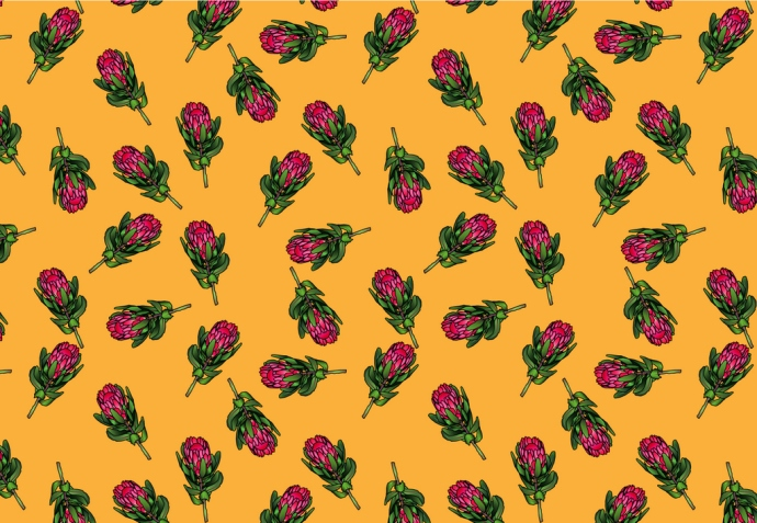 Protea pattern small