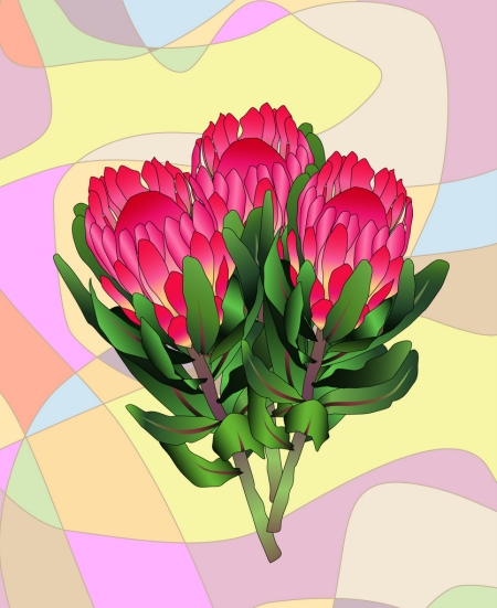 Protea with background small